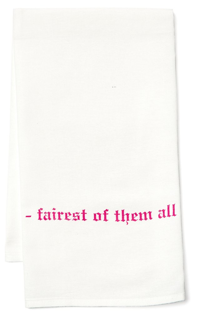 "S/2 ""Fairest Of Them All"" Tea Towels"