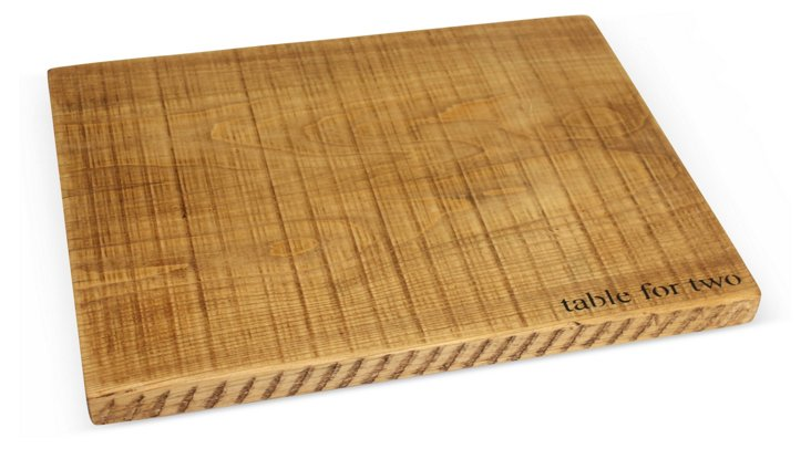 "Wooden ""Table for Two"" Serving Board"