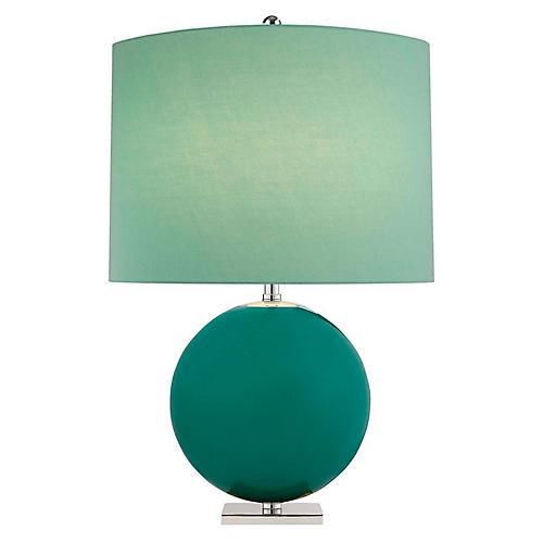 Elsie Table Lamp, Turquoise/Aqua