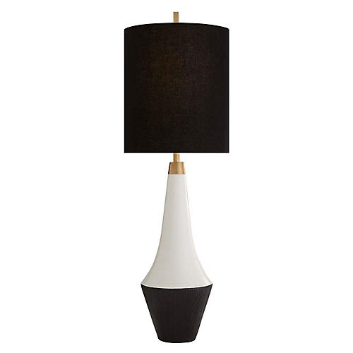 Neale Table Lamp, Multi/Black