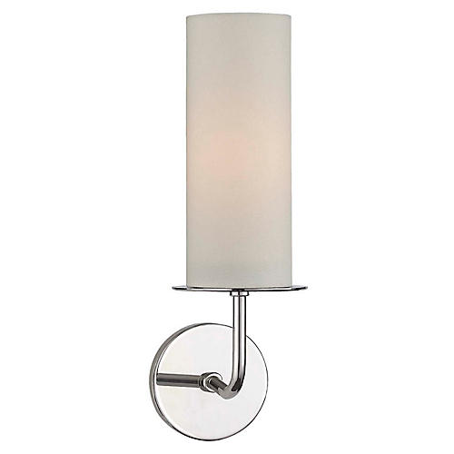 Larabee Single Sconce, Polished Nickel