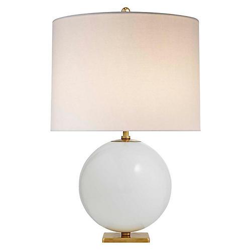 Elsie Table Lamp, Cream/Cream