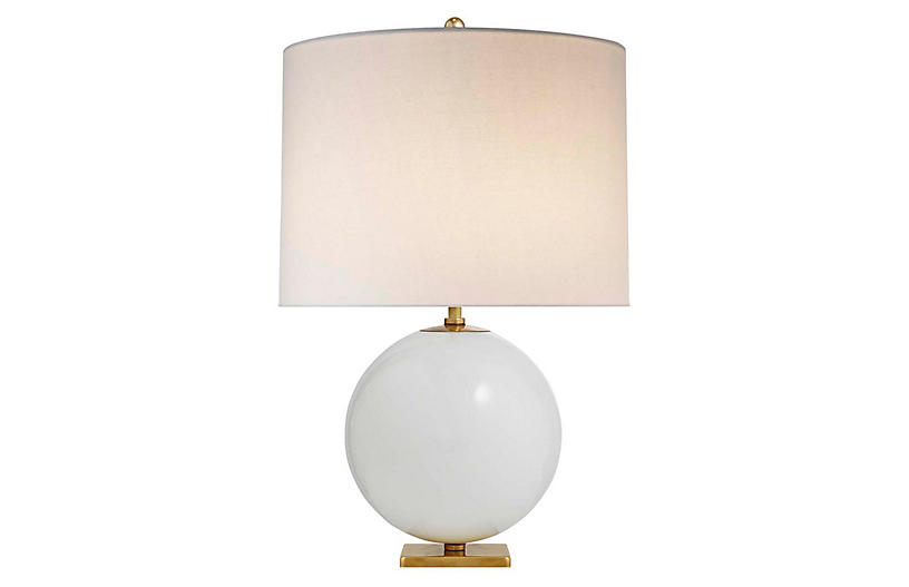 Elsie Table Lamp, Cream/Cream