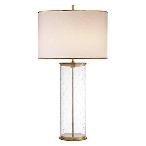Larabee Dot Table Lamp, Clear/Brass