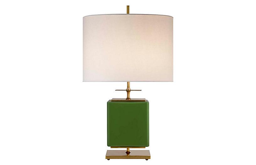 Beekman Wide Table Lamp, Green