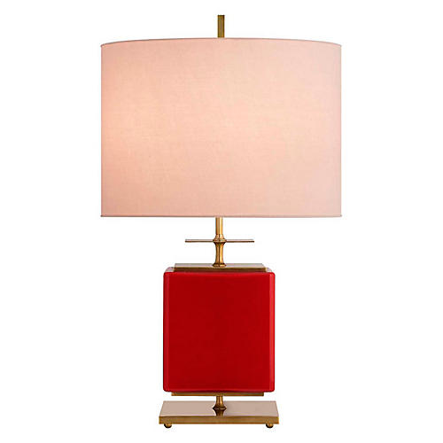 Beekman Wide Table Lamp, Maraschino