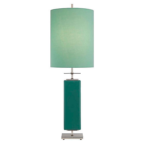 Beekman Table Lamp, Turquoise/Aqua