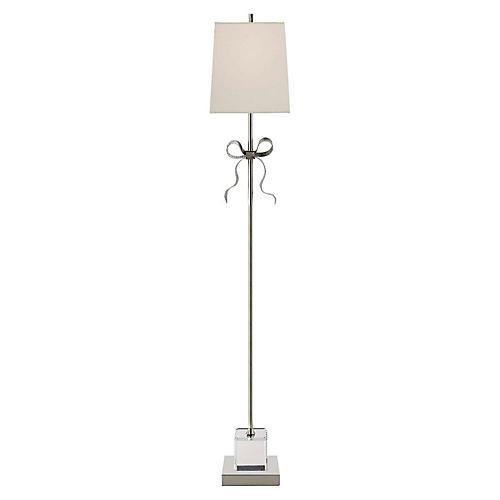 Ellery Floor Lamp, Polished Nickel