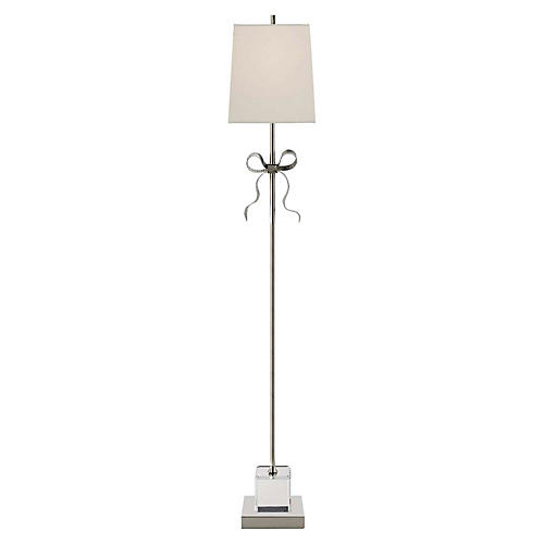 Ellery Floor Lamp, Polished Nickel
