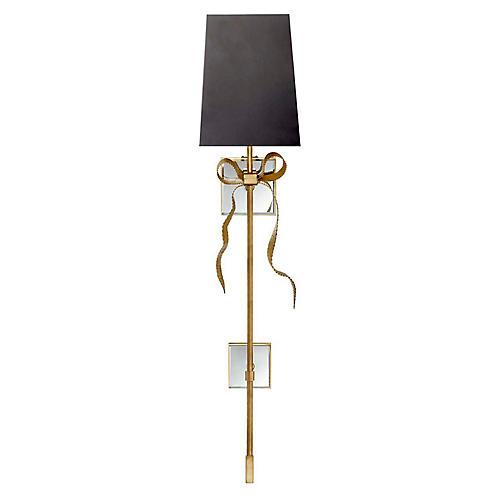 Ellery Tail Sconce, Soft Brass/Black