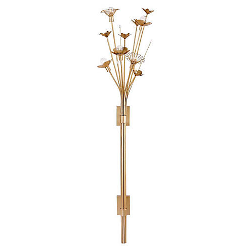 Keaton Large Bouquet Sconce, Gild