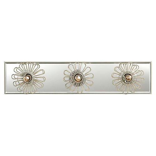 "Keaton 18"" Floral Sconce, Light Cream"