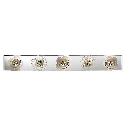 "Keaton 30"" Floral Sconce, Light Cream"