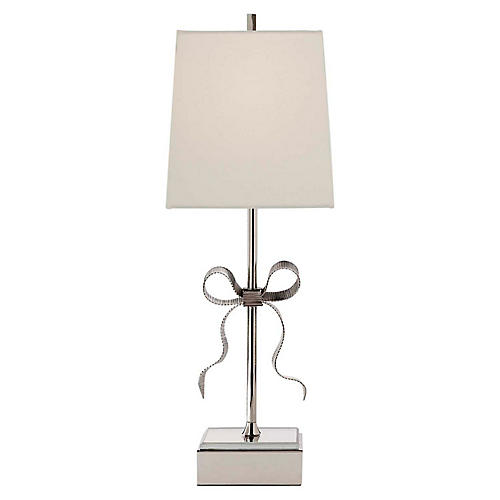 Ellery Table Lamp, Polished Nickel