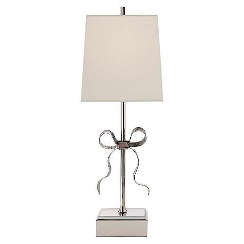 Ellery Table Lamp, Polished Nickel