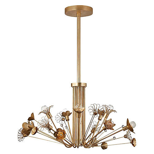 Keaton Bouquet Chandelier, Gild
