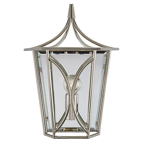 Cavanagh Sconce, Polished Nickel