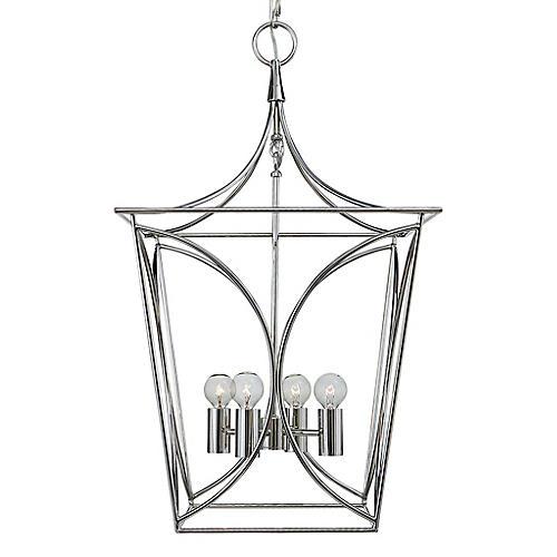 Cavanagh Lantern, Polished Nickel