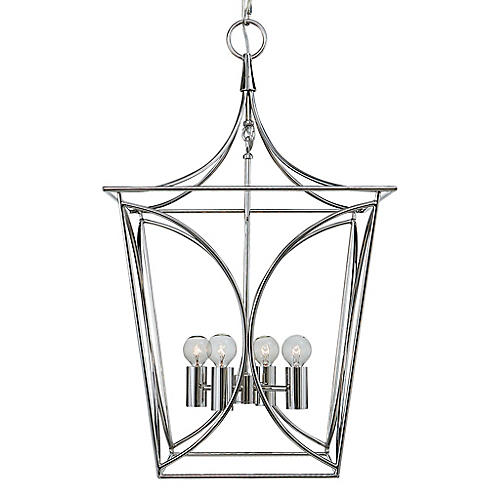 Cavanagh Lantern, Polished Nickel