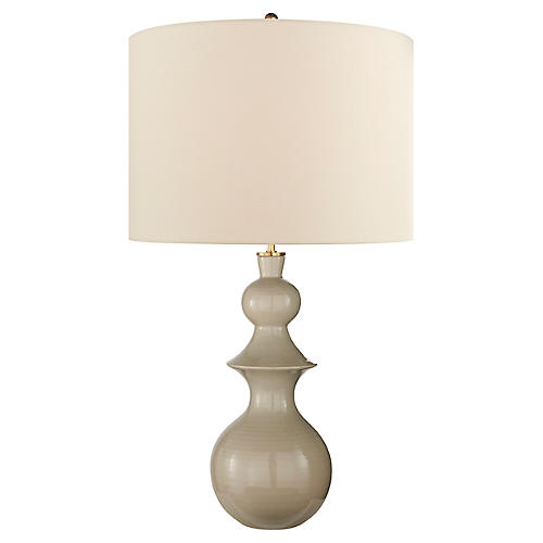 Saxon Table Lamp, Dove Gray