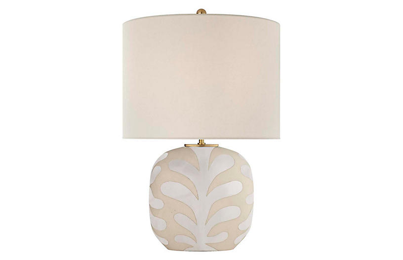 Parkwood Medium Table Lamp, Bisque/New White