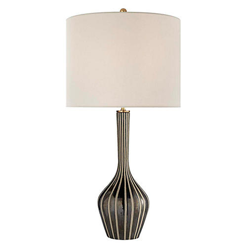 Parkwood Large Table Lamp, Bisque/Black Pearl