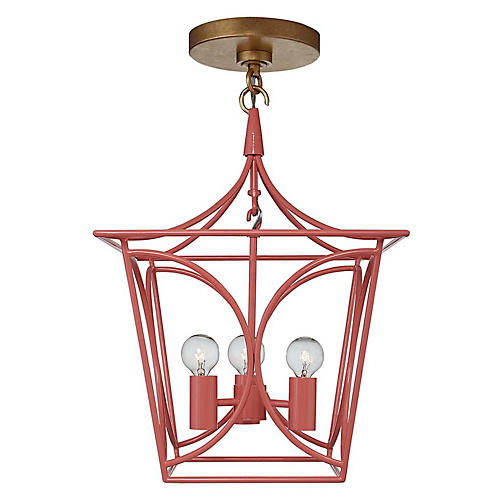 Cavanagh Mini Lantern, Coral