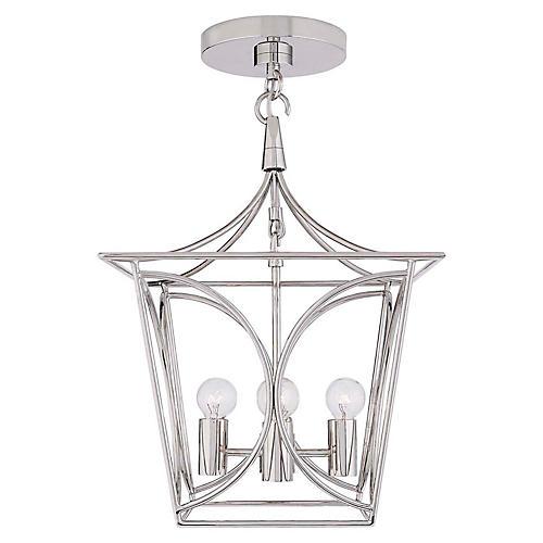 Cavanagh Mini Lantern, Polished Nickel