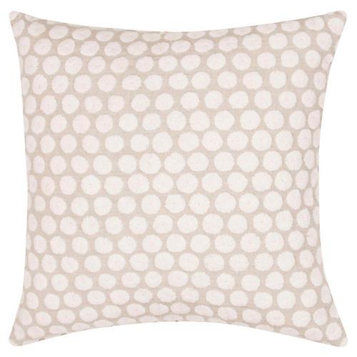 Yorkville 18x18 Tribal Pillow, Cream/Neutral Linen