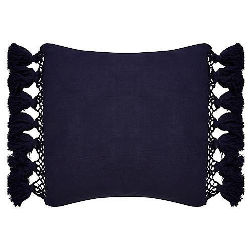 Yorkville 20x20 Tribal Pillow, Navy