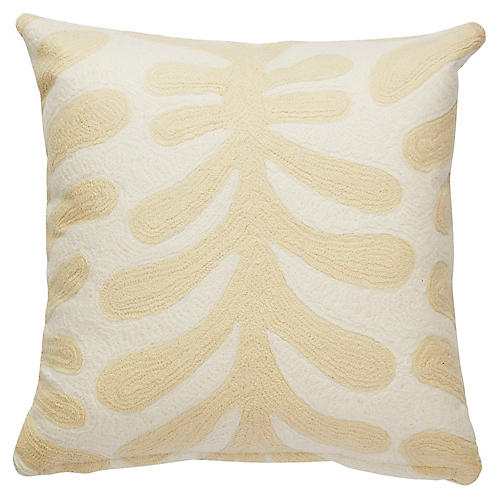 Yorkville 20x20 Abstract Pillow, Cream
