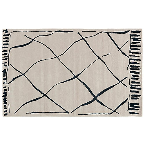 Gramercy Abstract Rug, Cream