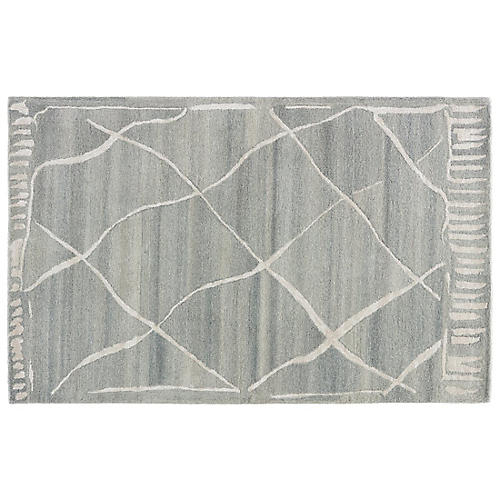 Gramercy Abstract Rug, Heather Gray