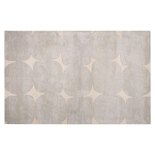 Abstract Pattern Rug, Taupe