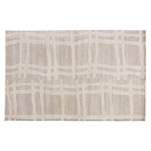 Abstract Pattern Rug, Cream