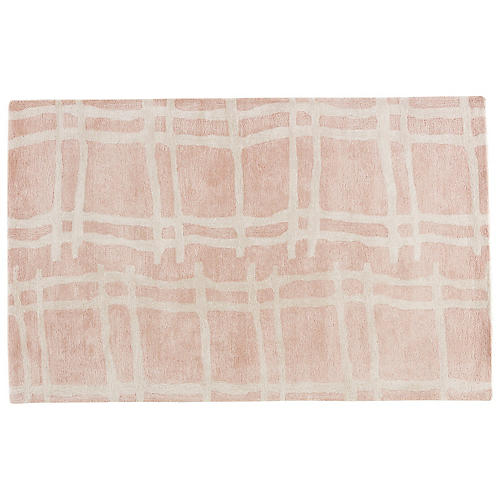 Abstract Pattern Rug, Blush