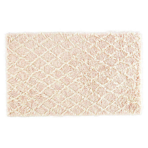 Heights Geometric Rug, Blush