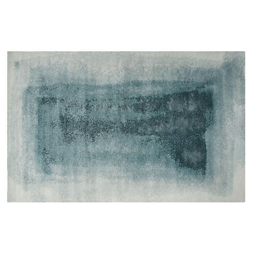 Murray Abstract Rug, Aqua