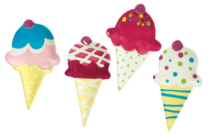 Asst. of 4 Ice Cream Social Plates