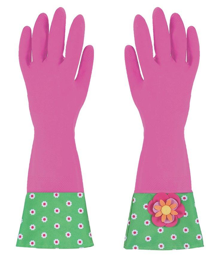 2-Pair Garden Glamour Gloves, Dark Pink