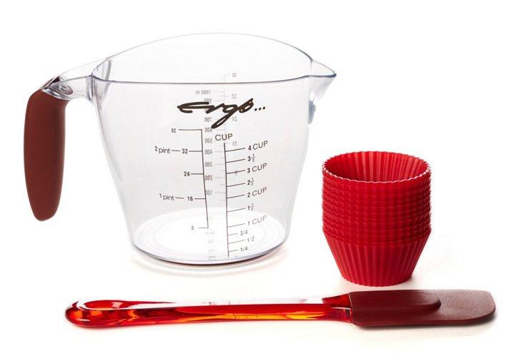 Ergo Baking/Measuring Set, Red