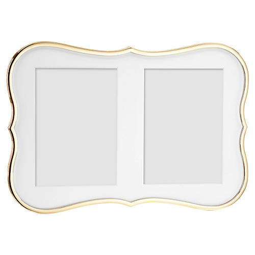5x7 Crown Point Double Frame, Gold
