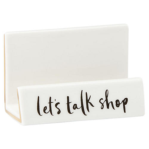 """3"""" Daisy Place Business Card Holder, White"""