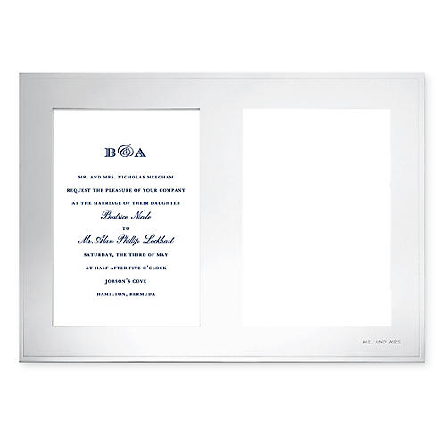 5x7 Darling Point Double Picture Frame, Silver