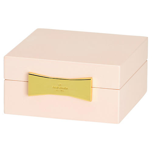 """4"""" Garden Drive Square Jewelry Box, Pink"""