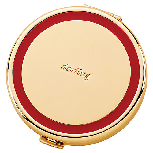 "3"" Holly Drive Darling Compact, Gold/Red"