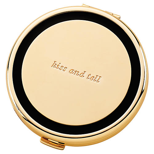 "3"" Holly Drive Kiss & Tell Compact, Gold/Black"