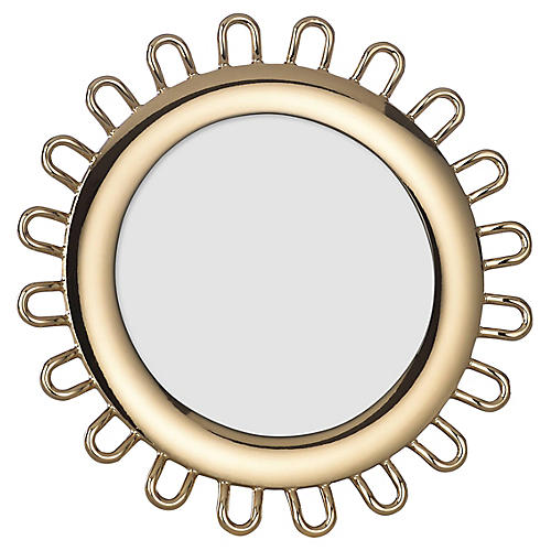 4x6 Keaton Street Round Picture Frame, Gold
