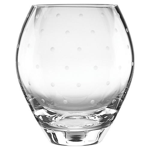 """7"""" Larabee Dot Vase, Clear"""