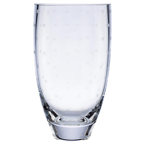 "9"" Larabee Dot Tall Vase, Clear"